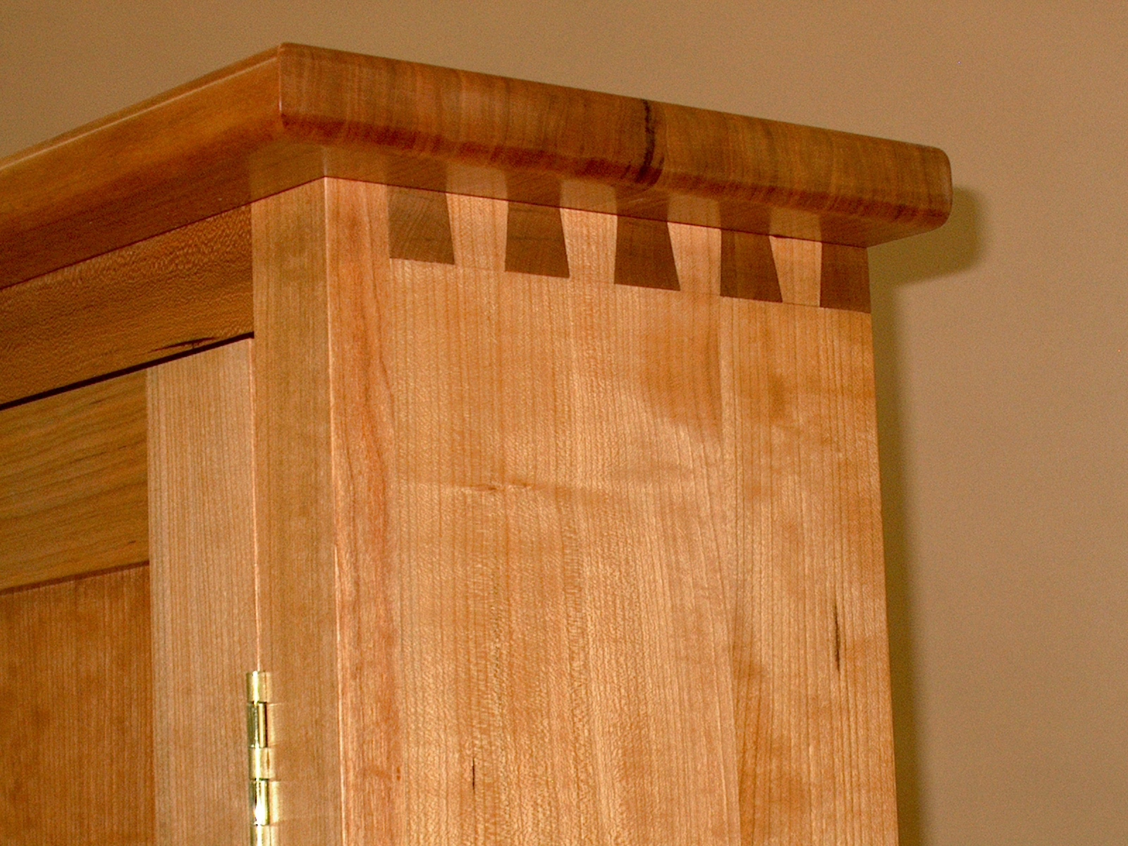 Wonderful 65quot Vintage Wood Tambour Door Wall Hanging Cabinet MR9848
